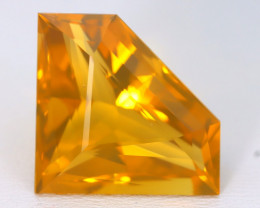 13.73Ct Natural Mexican Precision Trillion Cut Orange Crystal Fire Opal A11