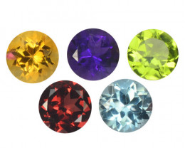 Fancy Gemstones 4.35 Cts 5Pcs Mix Color Natural
