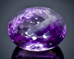 55.50 Crt Natural Amethyst  Faceted Gemstone.( AB 13)