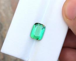 HGTL CERTIFIED 2.64 Ct Natural Blueish Green Transparent Tourmaline Gemston