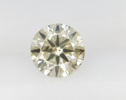 0.36 CTS , Round Brilliant Cut , Light Colored Diamond
