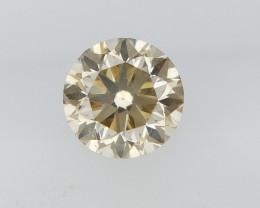 0.19 CTS , Round Brilliant Cut , Light Colored Diamond