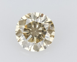 0.28 CTS , Round Brilliant Cut , Light Colored Diamond