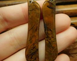 Gemstone african jade earring pairs (G2734)