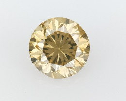 0.38 CTS , Round Brilliant Cut , Light Colored Diamond