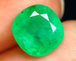 Emerald 3.32Ct Octagon Cut Natural Colombian Green Emerald B1216