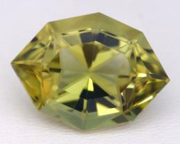 Lemon Quartz 14.78Ct VVS Precision Cut Natural Lemon Quartz B3023