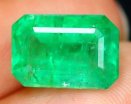 Emerald 4.23Ct Octagon Cut Natural Colombian Green Emerald B1224