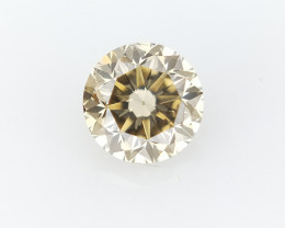 0.28 CTS , Round Brilliant Cut , Light Colored Diamond