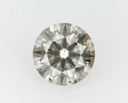 0.41 CTS , Round Brilliant Cut , Light Colored Diamond