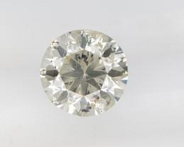 1.00, Round Brilliant Cut , Light Colored Diamond