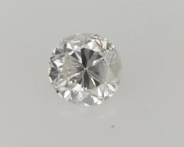 0.10 CTS , Round Brilliant Cut , Light Colored Diamond