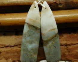 Bamboo jasper earring bead (G2740)