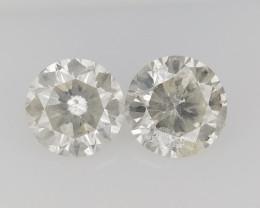 0.78 CTS , Round Brilliant Cut , Light Colored Diamond