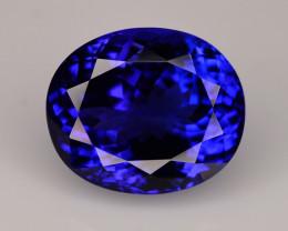 AAA Grade 12.80 ct Tanzanite D-Block Color