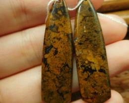 African jade earring pair (G2747)