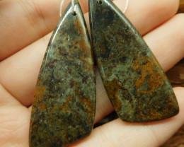Ocean jasper earring pair (G2748)