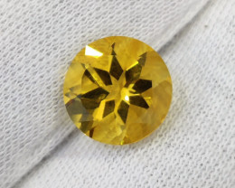 3.15 CTS INCREDIBLE CITRINE ROUND CUT BRAZIL ECELLENT