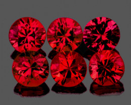 3.50 mm Round 6 pcs 1.02ct Red Spinel [VVS]
