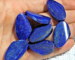 241.0 Carat - 7pcs. Lapis Lazuli Bead Strand - Stunning