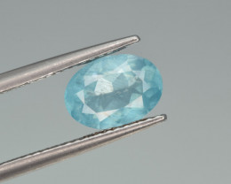 Natural Apatite 1.61 Cts  Excellent Paraiba Color Gemstone