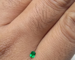 Certified Colombian emerald  from Muzo 0.12 cts