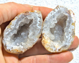 688.5 Tcw.Split Natural Geode - Cool Specimen