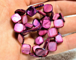 106.5 Tcw. Purple /  Pink Colored Mother of Pearl Strand - Gorgeous