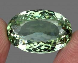 Big Clean 23.64 ct Natural Earth Mined Top Rich Green Prasiolite