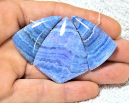 134.0 Tcw. Blue Rhodochrosite Fan - Gorgeous