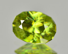 Sphene 0.92 Cts Green Signature Geo Cut BGC788