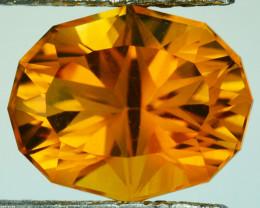 ~CUSTOM CUT~ 5.55 Cts Natural Golden Orange Citrine Fancy Oval Brazil