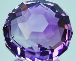 ~CUSTOM CUT~ 8.32 Cts Natural Purple Amethyst Fancy Round 12.50mm  Bolivia