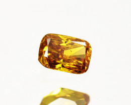 Fantastic!! 0.14 Cts Natural Untreated Diamond Fancy Yellow Radiant  Cut Af