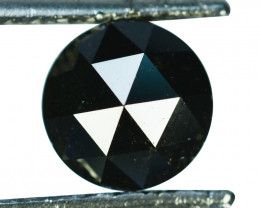 2.02Cts Natural Black Diamond Round 7.50mm (Rose Cut) Africa