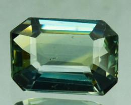 ~UNHEATED~ 1.26 Cts Natural Sapphire Greyish Blue Emerald Cut Australia