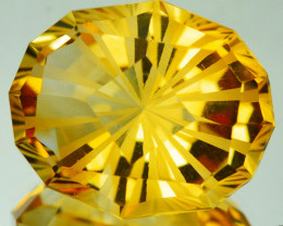 ~CUSTOM CUT~ 11.67 Cts Natural Golden Orange Citrine Fancy Oval Brazil