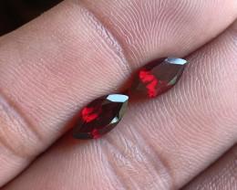 Garnet Gemstone Pair 100% Natural Gemstones VA5677