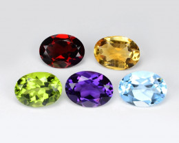 *NoReserve*Fancy Gemstones 6.37 Cts 5Pcs Mix Color Natural