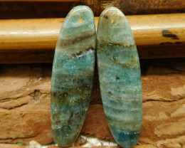 Gemstone blue apatite earring pair (G2762)