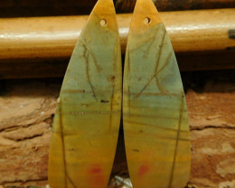 Gemstone creek jasper earring pair (G2766)