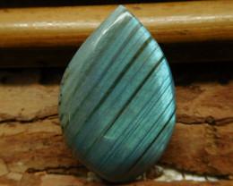Gemstone blue shining labradorite cabochon (G2774)