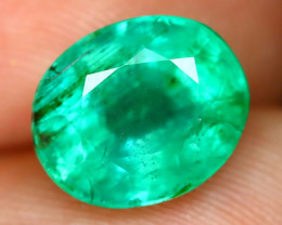 Russian 2.52Ct Oval Cut Natural Russian Green Color Emerald A1402