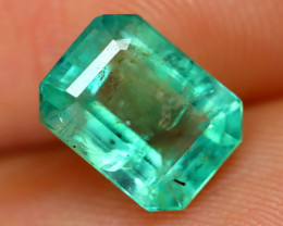 Colombian 1.55Ct Octagon Cut Natural Colombian Green Color Emerald A1418