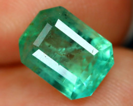 Colombian 2.33Ct Octagon Cut Natural Colombian Green Color Emerald A1420