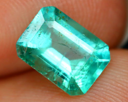 Colombian 1.08Ct Octagon Cut Natural Colombian Green Color Emerald A1436
