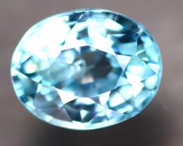 Blue Zircon 1.94Ct Natural Cambodian Blue Zircon D1608/B6