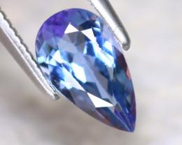Tanzanite 0.95Ct Natural VVS Purplish Blue Tanzanite D1613/D3
