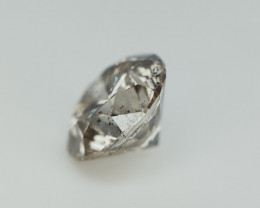 0.64 CTS , Salt Pepper Diamond , Natural Round Brilliant