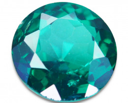 ~GLITTERING~ 1.20Cts Vivid Green Natural Topaz Round Cut Brazil